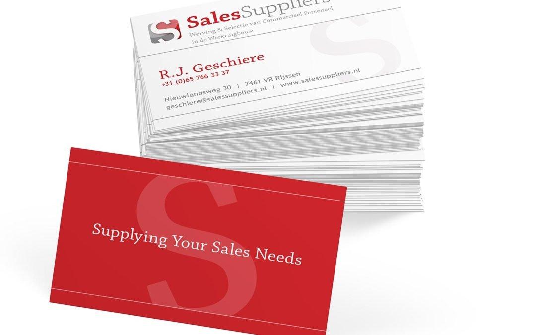 Huisstijl Sales Suppliers