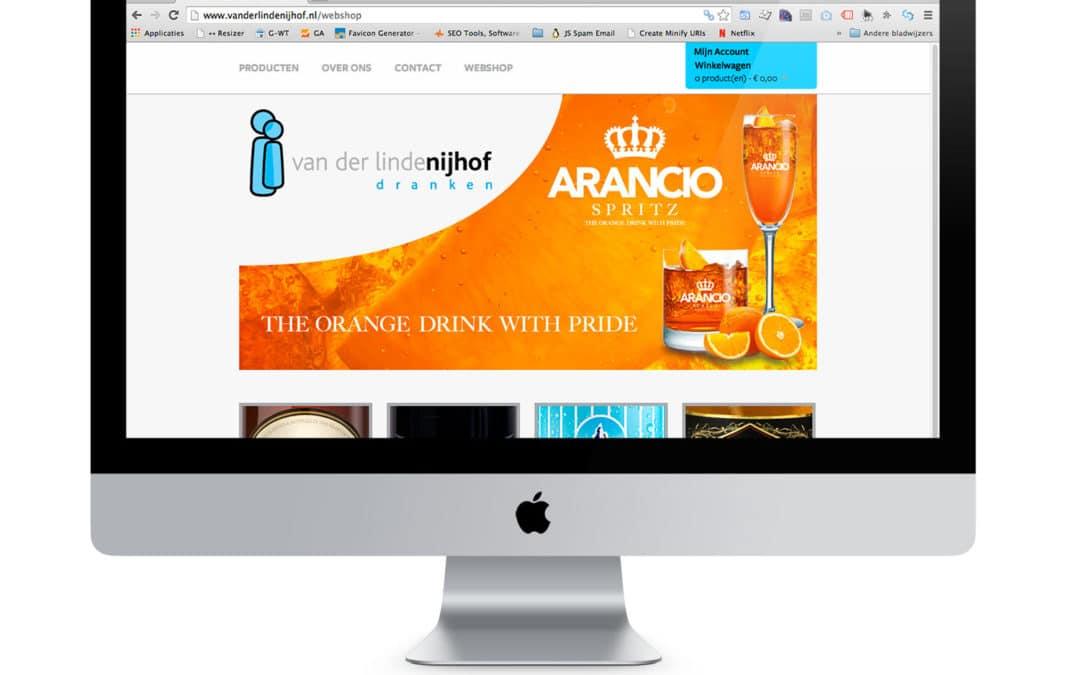 Website Van der Linde & Nijhof dranken