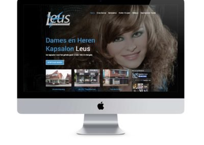Restyling Website Kapsalon Leus