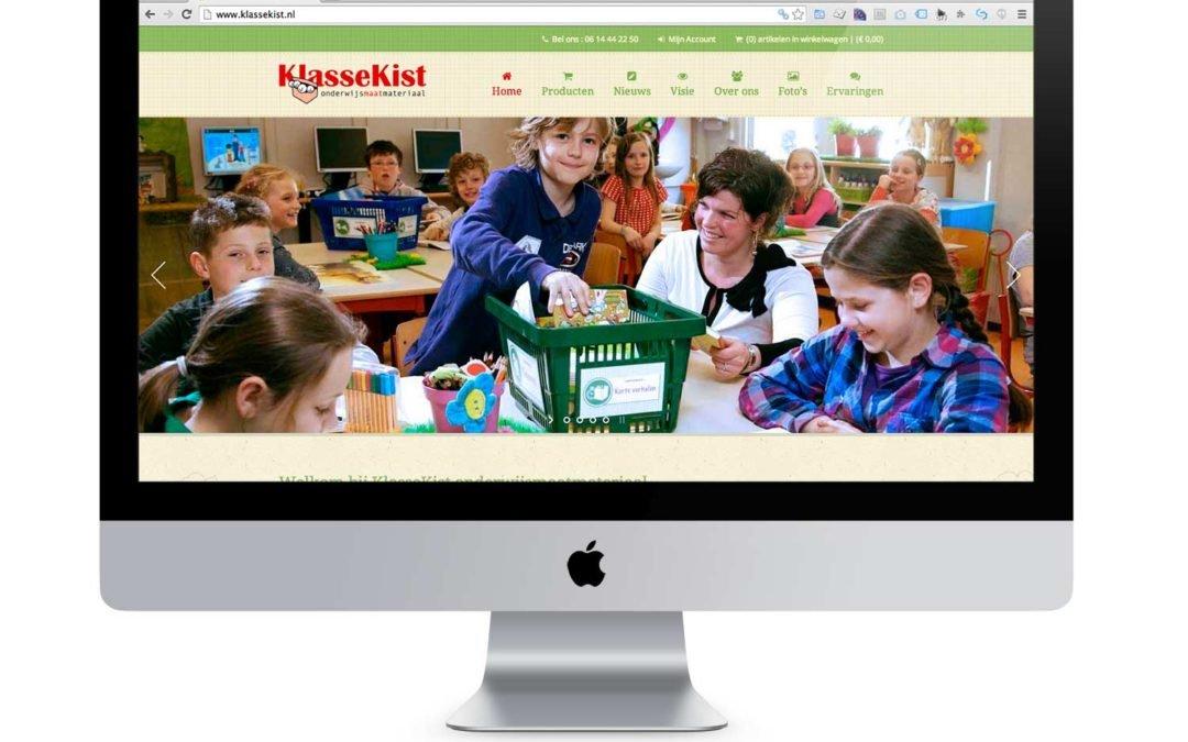 Webshop gerealiseerd voor KlasseKist