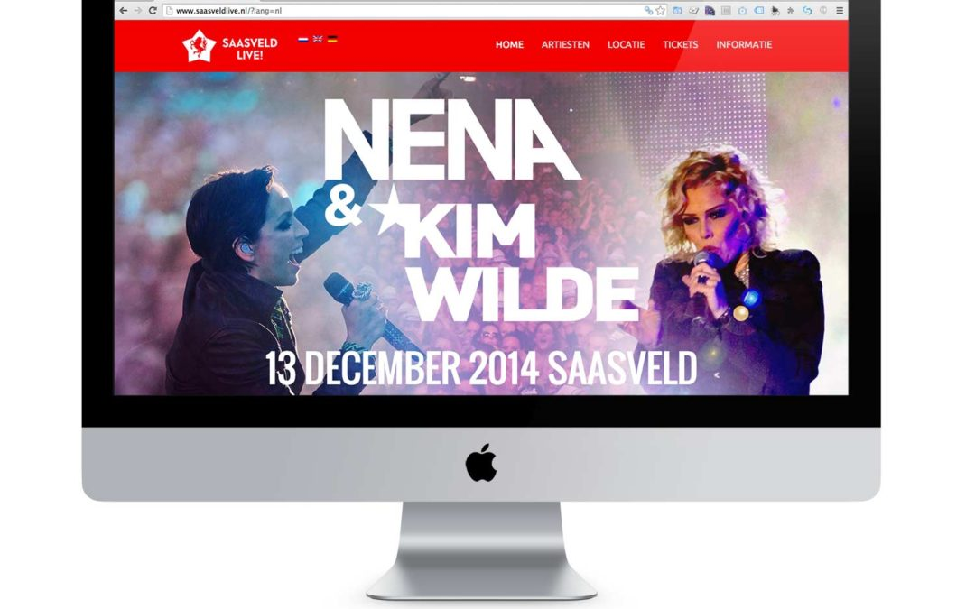 Website met e-ticket verkoop Saasveld Live!